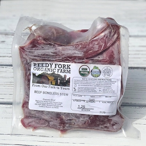 Reedy Fork Organic Stew Beef 10 Pounds
